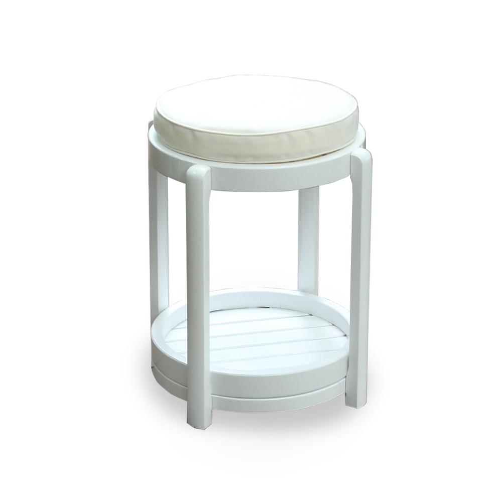 Cambridge Casual York Round Wood Outdoor Side Table