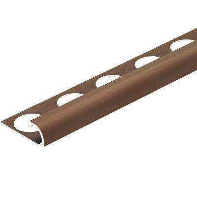 Brushed Antique Bronze Anodized 3/8 in. x 98-1/2 in. Aluminum R-Round Bullnose Tile Edging Trim