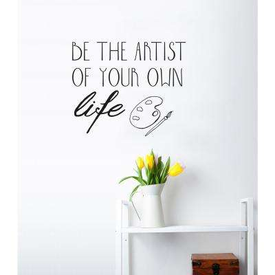 (22 in x 19 in) Be Artist Wall Decal