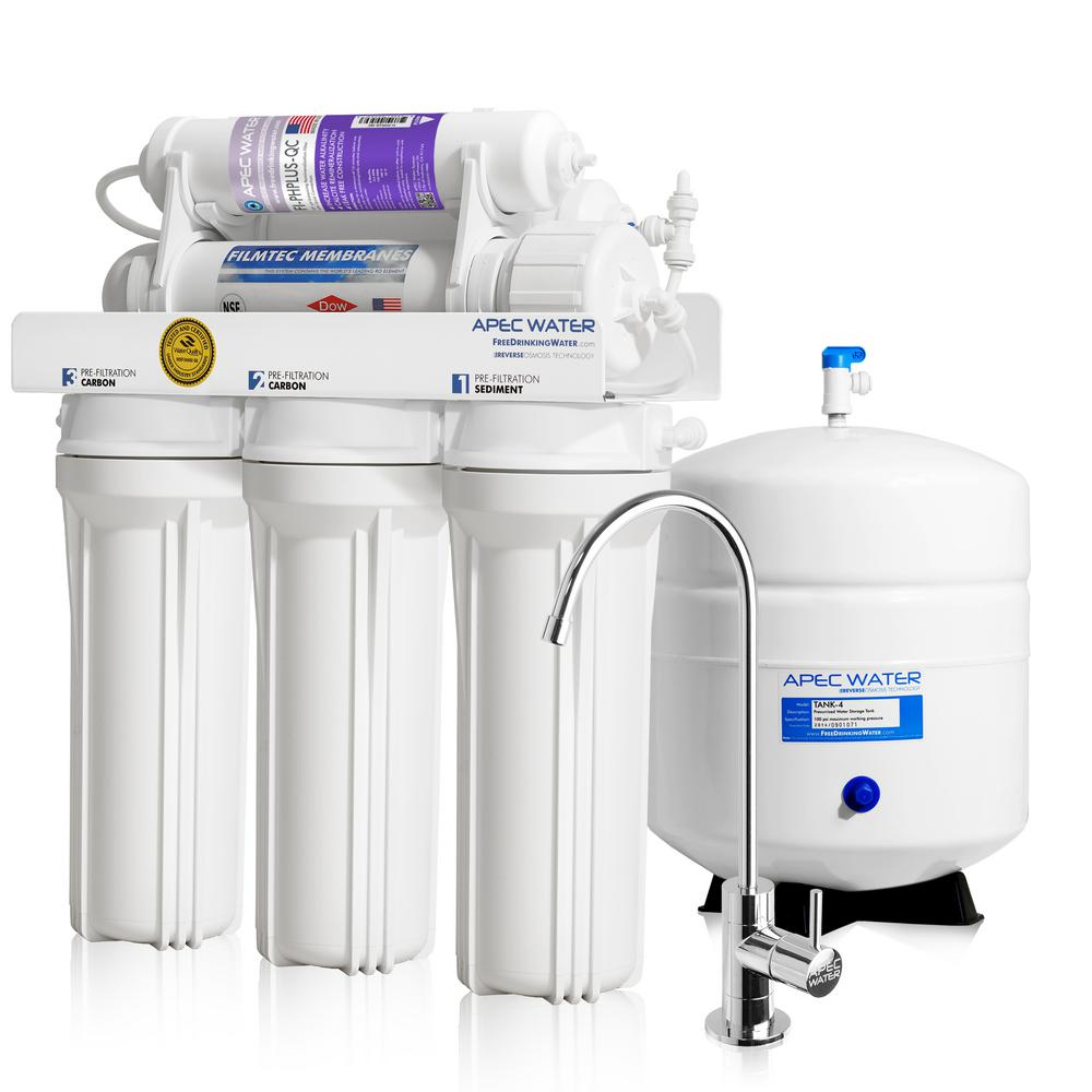 Ultimate Premium Quality 90 GPD pH+ Alkaline Mineral Under-Sink Reverse Osmosis
