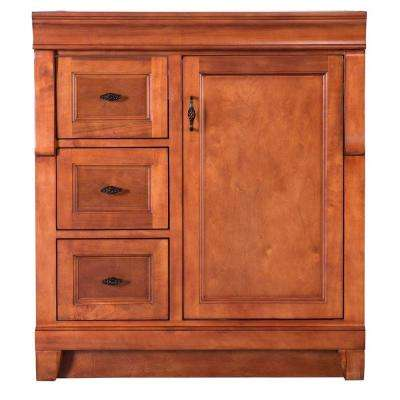 Naples 30 in. W 21.63 in. D Vanity Cabinet Only in Warm Cinnamon with Left Hand Drawers