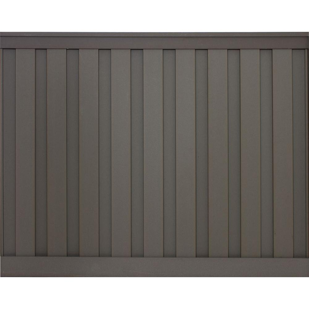 Woodland Brown Wood Plastic Composite Board On Privacy Fence Panel Kit