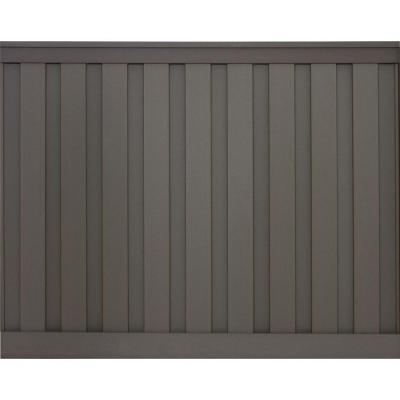 Seclusions 6 ft. x 8 ft. Winchester Grey Wood-Plastic Composite Board-On-Board Privacy Fence Panel Kit