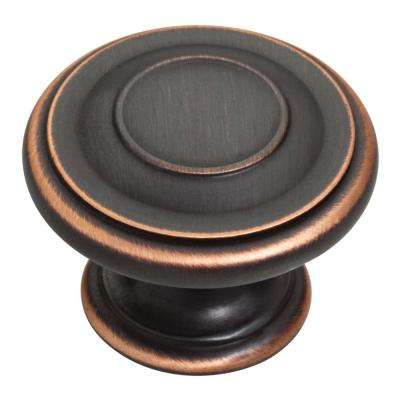 Harmon 1-3/8 in. Venetian Bronze with Copper Highlights Cabinet Knob