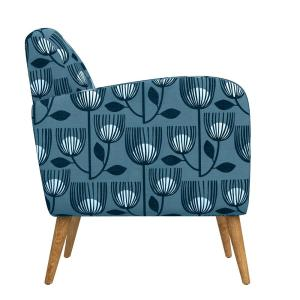Terrific Handy Living Kingston Blue Modern Tulip Print Mid Century Forskolin Free Trial Chair Design Images Forskolin Free Trialorg