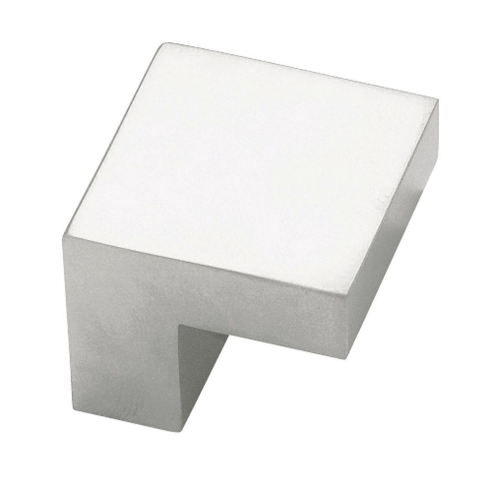 Plaza 3/4 in. (19mm) Aluminum 1 in. Wide Square Cabinet Knob