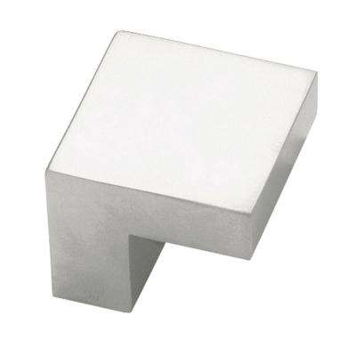Plaza 3/4 in. (19mm) Aluminum 1 in. Wide Square Cabinet Knob