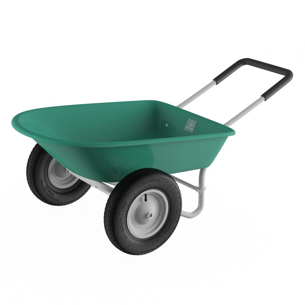 5 cu. ft. 2-Wheeled Garden Wheelbarrow