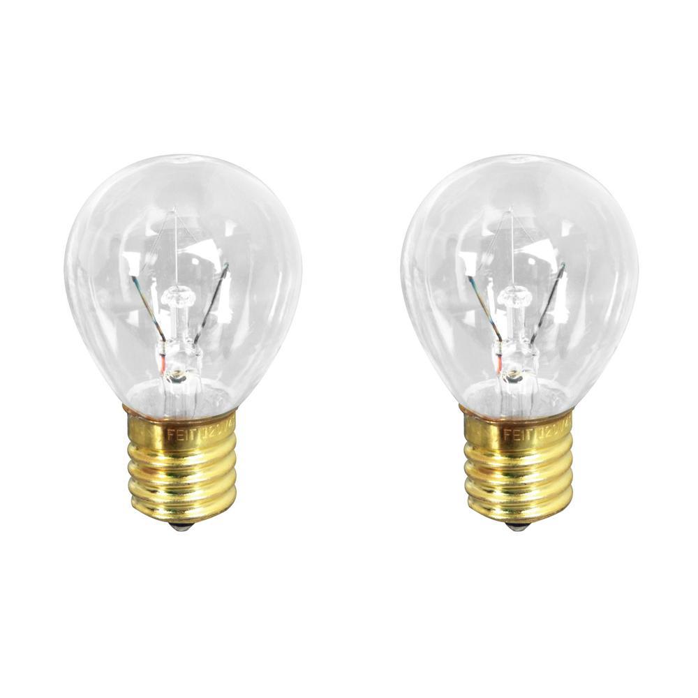 25-Watt Soft White (2700K) S11 Intermediate E17 Base Dimmable Incandescent Light Bulb (2-Pack)