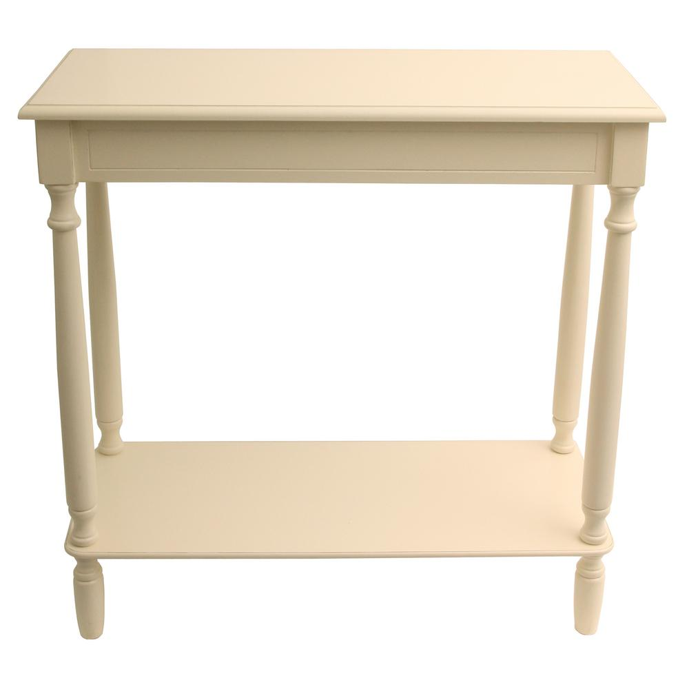 Rectangular Antique White Console Table