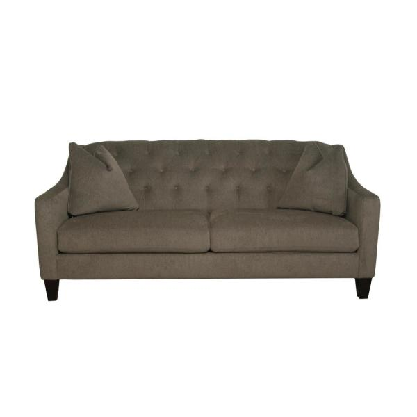 Aldergrove Powerball Fawn Brown Straight Standard Sofa with Tufting (79.5 in. W x 34.5 in. H)