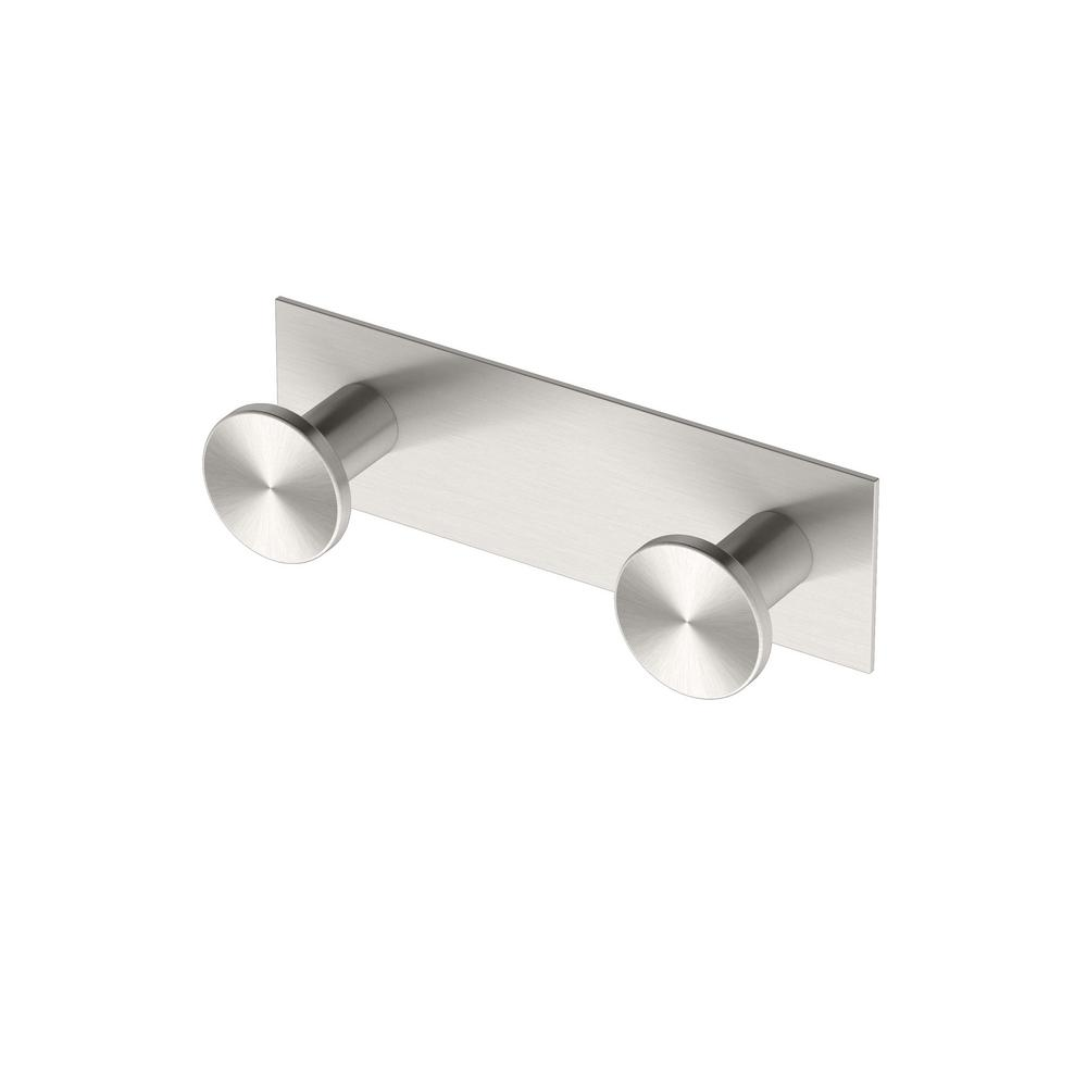 gatco glam all modern decor double robe hook in satin nickel. gatco glam all modern decor double robe hook in satin nickel
