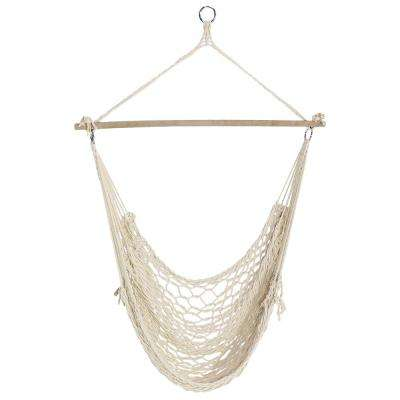 Cotton Rope 48 in. Portable Hanging Hammock Chair Swing
