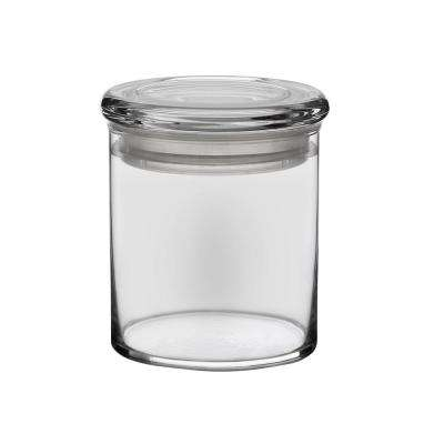 6-Piece Glass Cylinder Jar Set with Lid