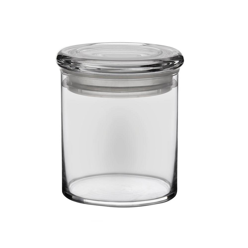 6-Piece Glass Cylinder Jar Set with Lid