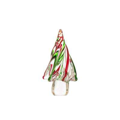 7.87 in. Medium Stripes Glass Table Tree