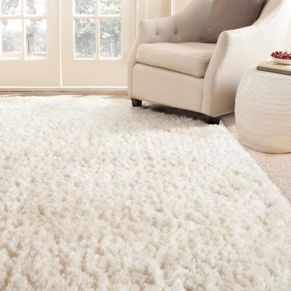 Arctic Shag Ivory 5 ft. x 7 ft. 6 in. Area