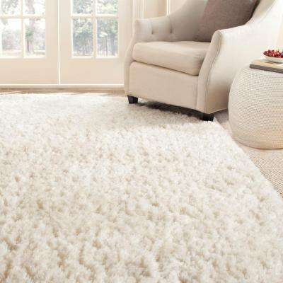 Arctic Shag Ivory 5 ft. x 7 ft. 6 in. Area Rug
