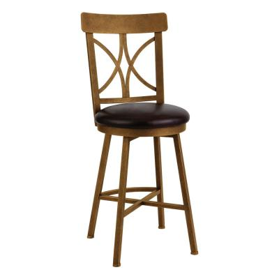 Siena 26 in. Cantina Black Swivel Barstool