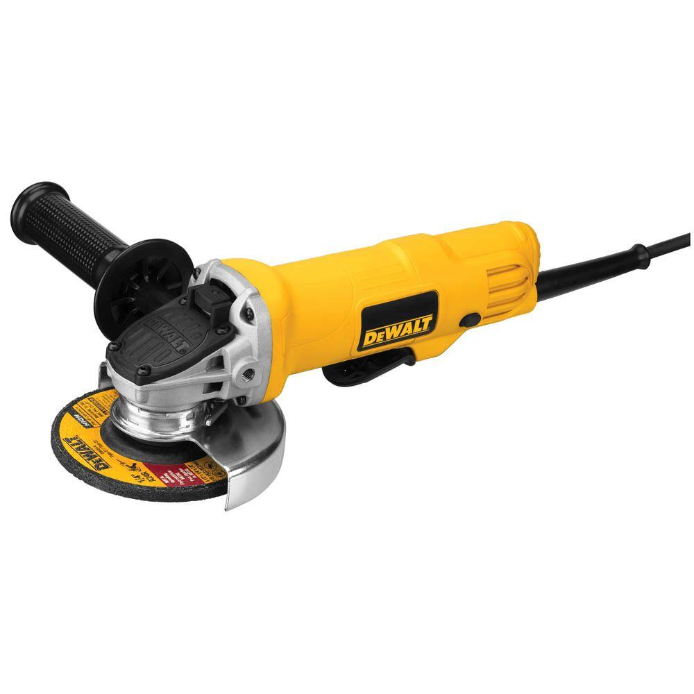 Dewalt 7 5 Amp 4 5 In Corded 12 000 Rpm Paddle Switch Small Angle Grinder Dwe4012 The Home Depot