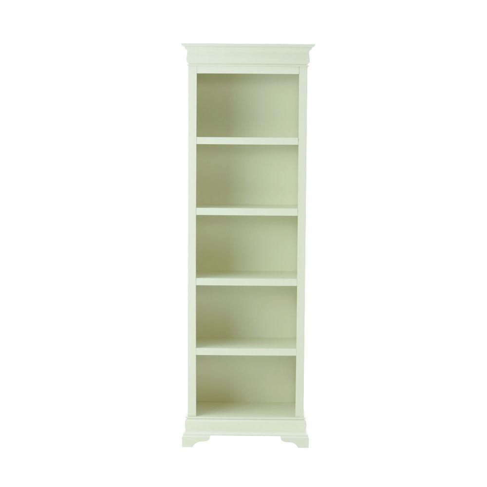 """Home Decorators Collection Louis Philippe Polar White 23.75"""" W 5 Shelf Open Bookcase"""