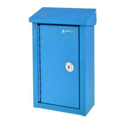 Heavy-Duty Steel Blue Outdoor Large Key Drop Box