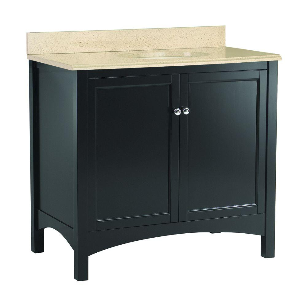 Foremost Haven 37 in. W x 22 in. D Vanity in Espresso with Colorpoint Vanity Top in Maui