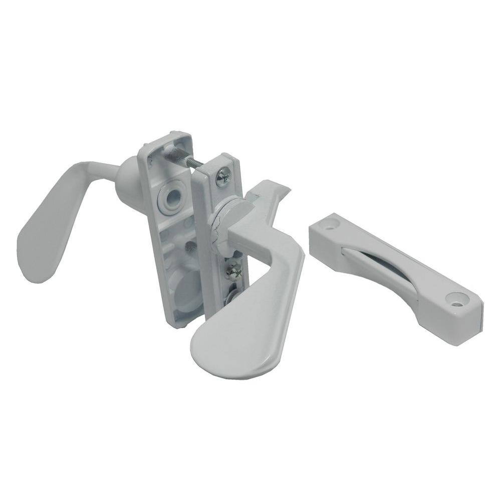 Barton Kramer 1 3 4 In White Inswing Latch Set For Screen