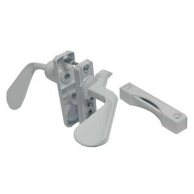 1-3/4 in. White Inswing Latch Set for Screen Door