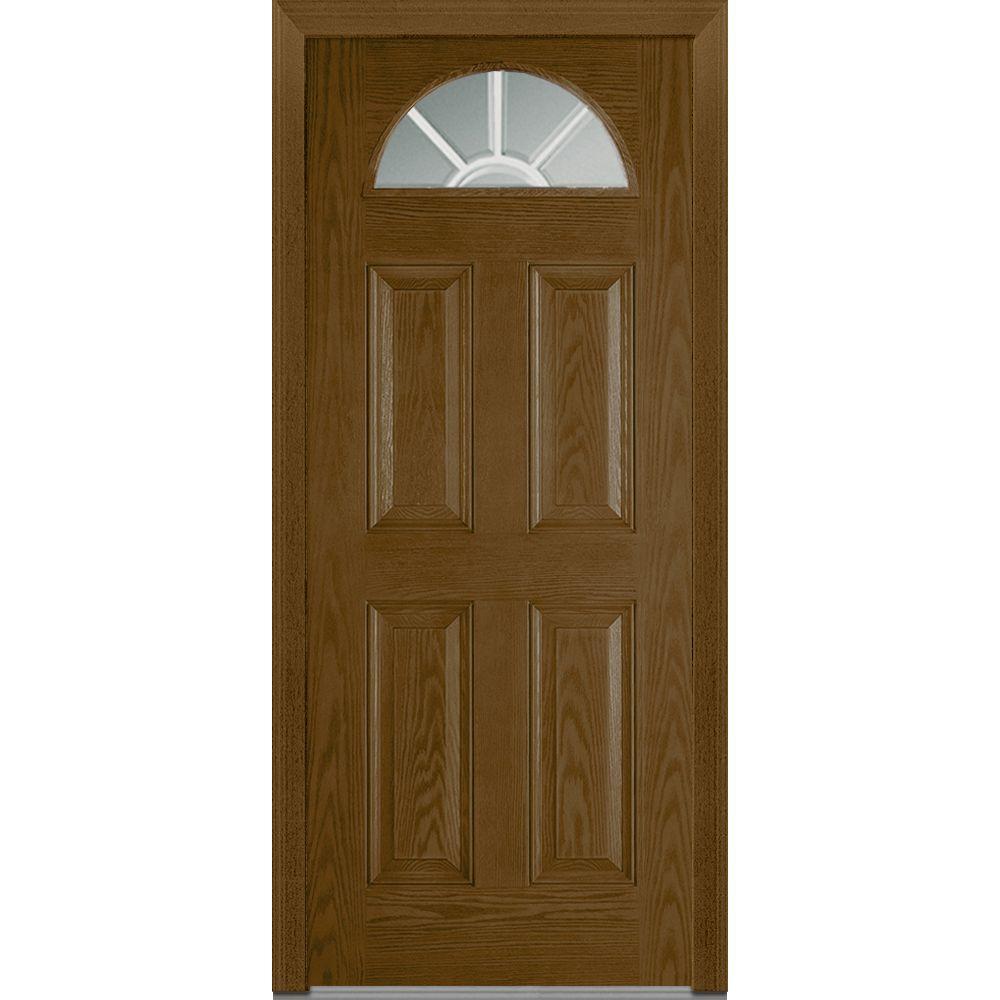 Mmi door 36 in x 80 in grilles between glass left hand 1 for Home depot glass panel door