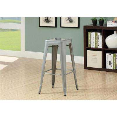 30 in. Silver Bar Stool (Set of 2)