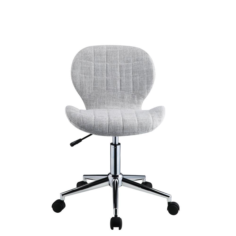 Nepeta Light Blue-Gray Fabric Office Chair