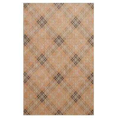Russell Plaid Natural 8 ft. x 10 ft. Area Rug