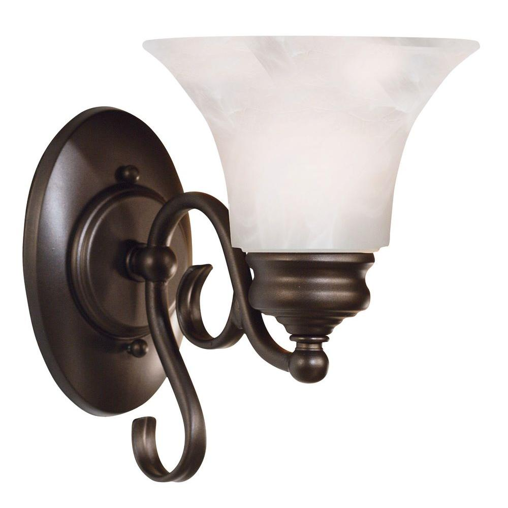 Kenroy Home Wynnewood1-Light Burnished Bronze Wall Sconce