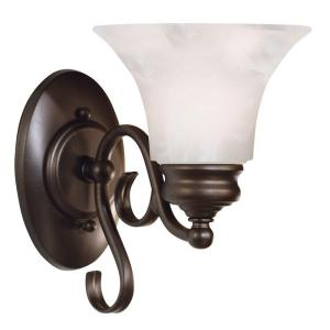 Kenroy Home Wynnewood1-Light Burnished Bronze Wall Sconce by Kenroy Home