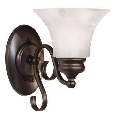 Wynnewood1-Light Burnished Bronze Wall Sconce