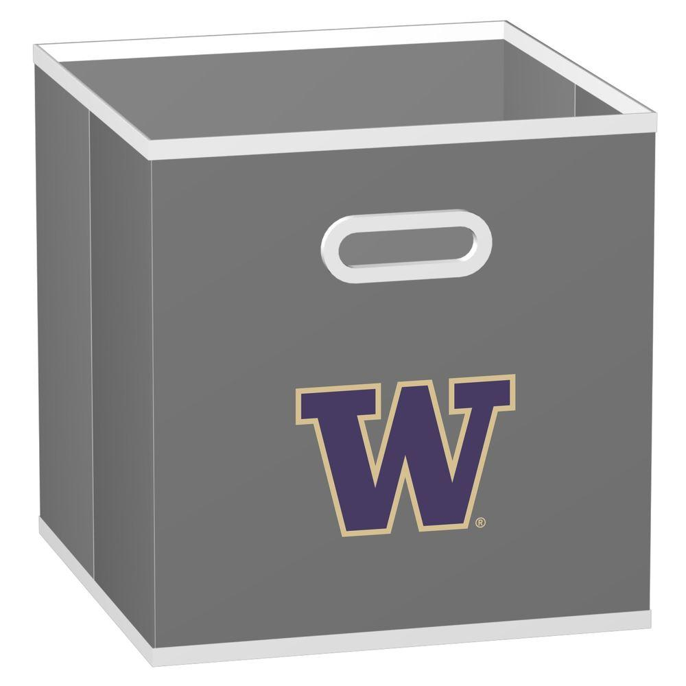 MyOwnersBox College STOREITS University of Washington 10-1/2 in. x 10-1/2 in. x 11 in. Grey Fabric Storage Drawer