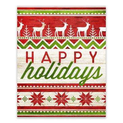 """Happy Holidays"" by Lot26 Studio Printed Canvas Wall Art"