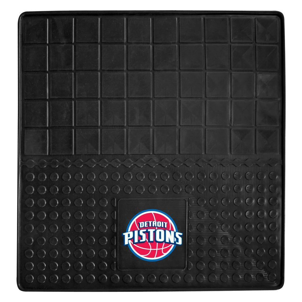 FANMATS Detroit Pistons Heavy Duty Vinyl 31 in. x 31 in. Cargo Mat