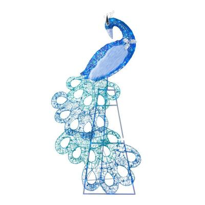 70 in 120-Light LED Blue Peacocl