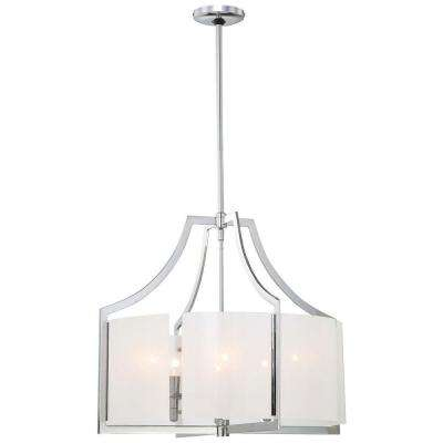 Clarte 6-Light Chrome Chandelier