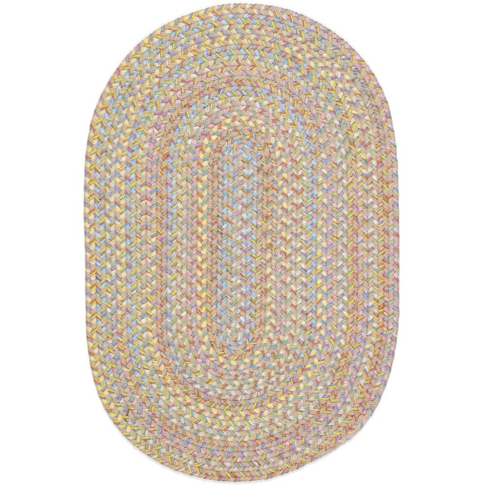 Play Date Sand Beige Multi 4 ft. x 6 ft. Oval