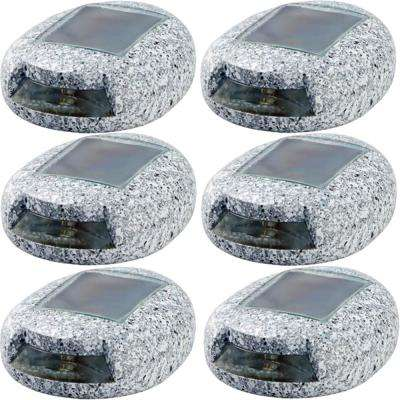 Gray Integrated LED Deck Light with Solar Panel (6-Pack)