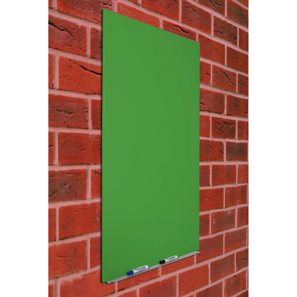 Rocada Skin 29 5 In X 45 29 In Green Magnetic Chalkboard Rd 6420gr The Home Depot