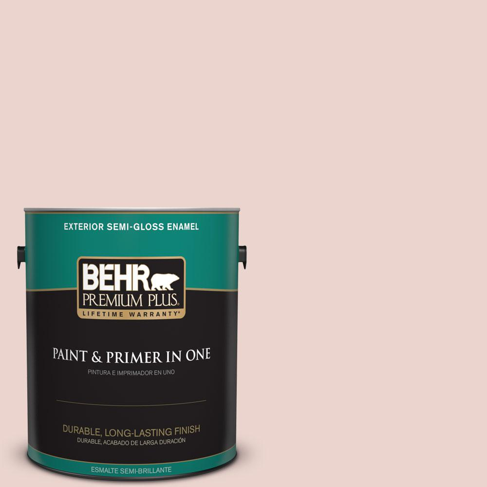 BEHR Premium Plus 1-gal. #S170-1 Ole Pink Semi-Gloss Enamel Exterior Paint
