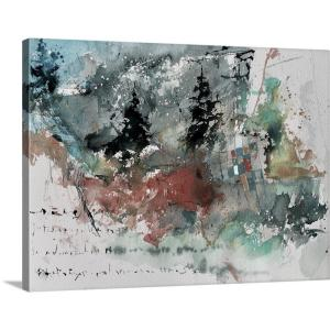 """Watercolor Abstract 41406"" by Pol Ledent Canvas Wall Art"