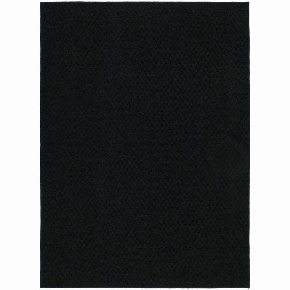 Garland Rug Town Square Black 5 ft. x 7 ft. Area Rug