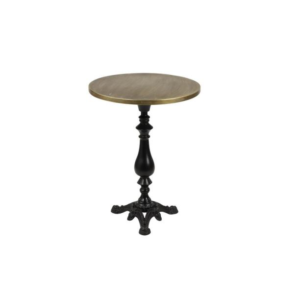 Litton Lane Small Gold And Black Iron Round Accent Table