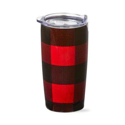 Buffalo Check 18 oz. Red Stainless Steel Tumbler