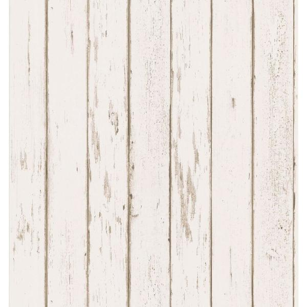 Brewster - Weathered Plank Wallpaper